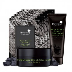 Charcoal Pore Care Set (Foam + Eye Patch + Mask Pack)